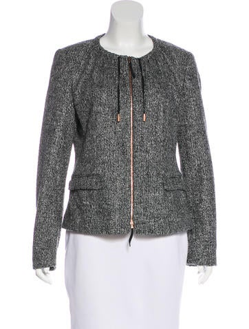Piazza Sempione Virgin Wool Zip-Up Jacket None