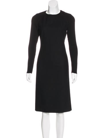 Piazza Sempione Wool Sheath Dress None