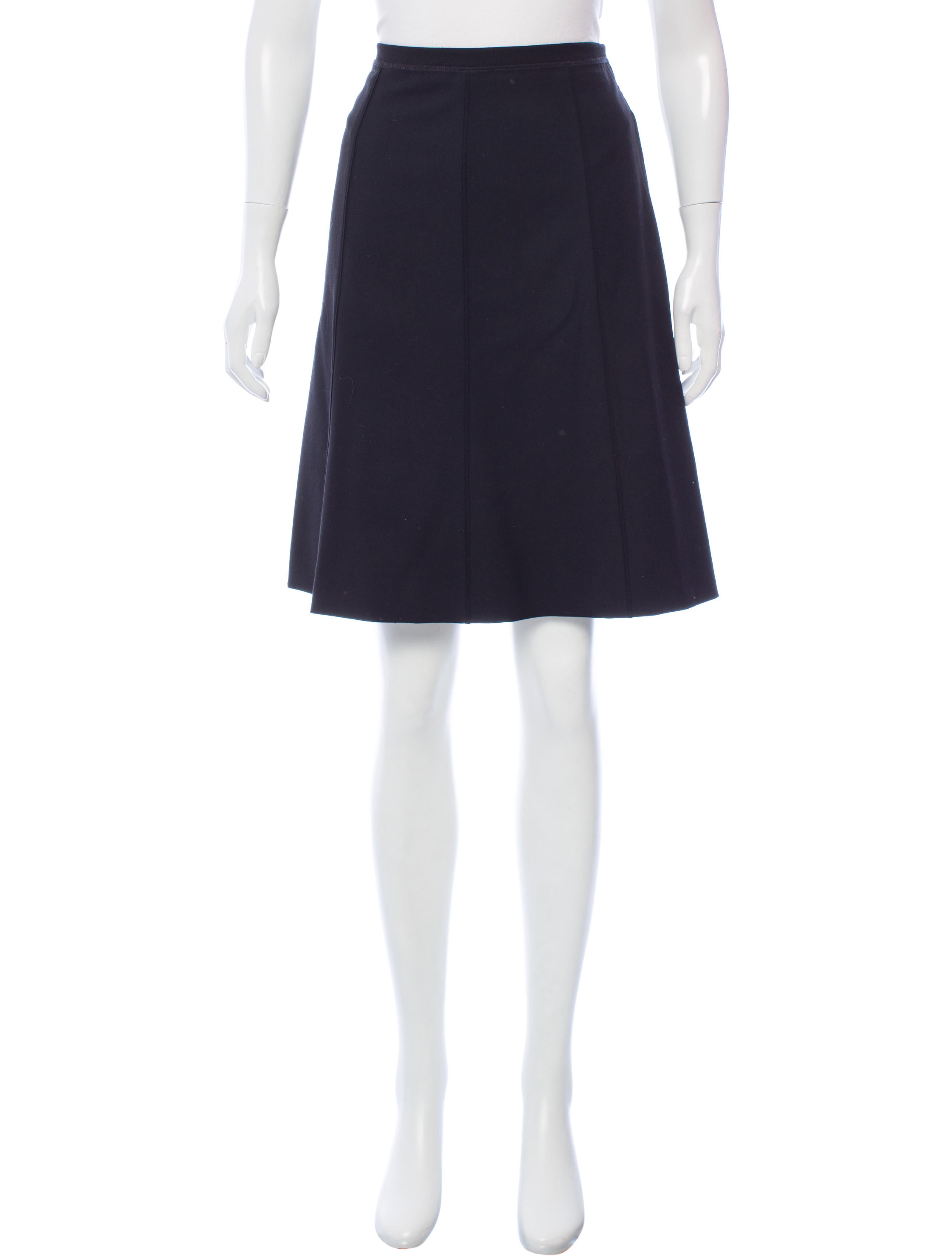 piazza sempione wool knee length skirt clothing