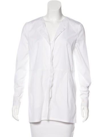 Piazza Sempione Long Sleeve Button-Up Top None