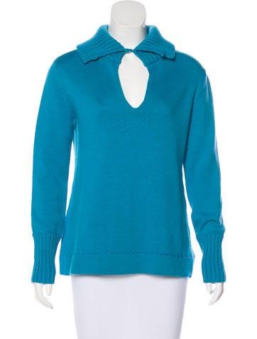Piazza Sempione Wool Rib Knit Sweater None