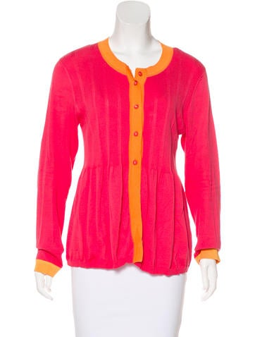 Piazza Sempione Colorblock Knit Cardigan None