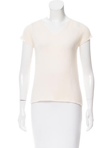 Piazza Sempione Short Sleeve V-Neck Top None