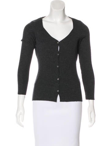 Piazza Sempione Wool Rib Knit Cardigan None