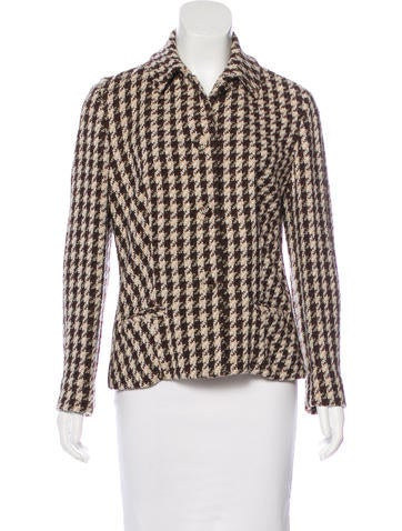 Piazza Sempione Virgin Wool Houndstooth Jacket None