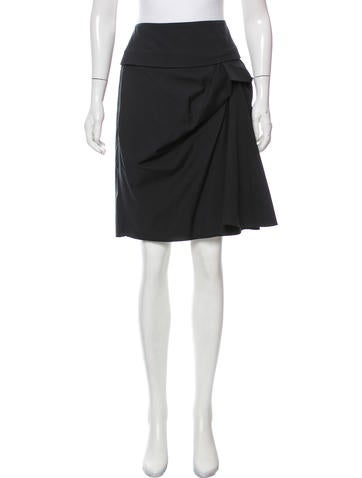 Piazza Sempione Ruched Knee-Length Skirt None