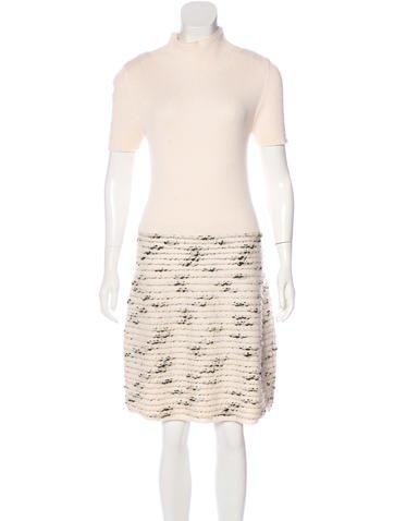 Piazza Sempione Wool-Blend Knit Dress None