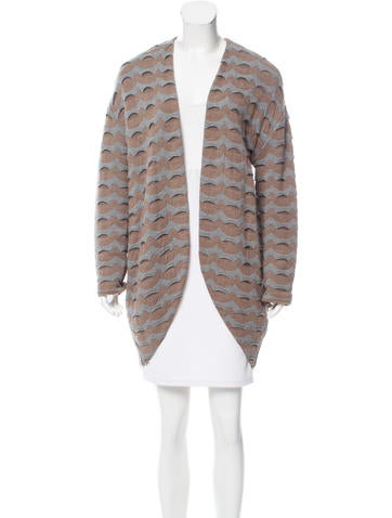 Piazza Sempione Patterned Wool Cardigan None