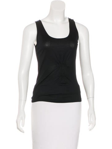 Piazza Sempione Sleeveless Ruched-Accented Top None