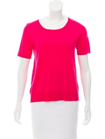 Piazza Sempione Wool & Silk-Blend Short Sleeve Top None
