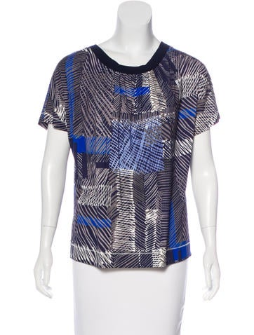 Piazza Sempione Printed Short Sleeve Top w/ Tags None