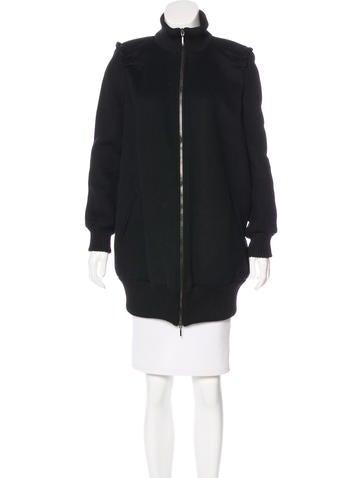 Piazza Sempione Wool & Cashmere Zip-Up Coat None