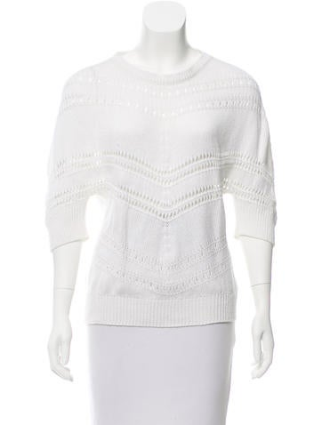 Piazza Sempione Short Sleeve Knit Sweater None