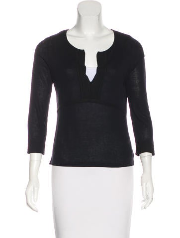 Piazza Sempione Knit Long Sleeve Top None