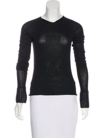 Piazza Sempione Wool Rib Knit Sweater None