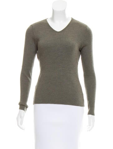Piazza Sempione Rib Knit Long Sleeve Top None
