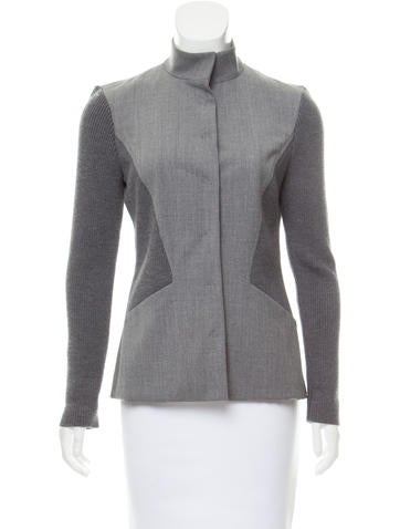 Piazza Sempione Wool Paneled Jacket None