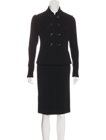 Piazza Sempione Wool Skirt Suit None