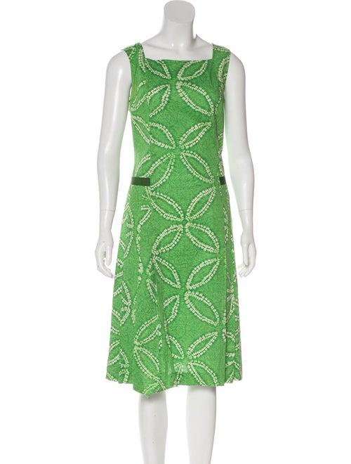 Piazza Sempione Tie-Dye Print Midi Dress Green
