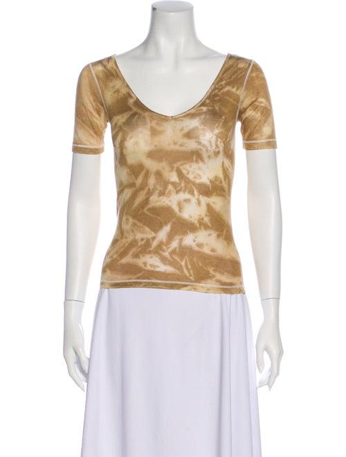 Piazza Sempione Tie-Dye Print Scoop Neck T-Shirt