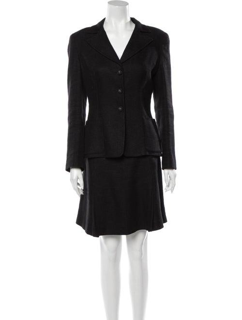Piazza Sempione Linen Skirt Suit Black