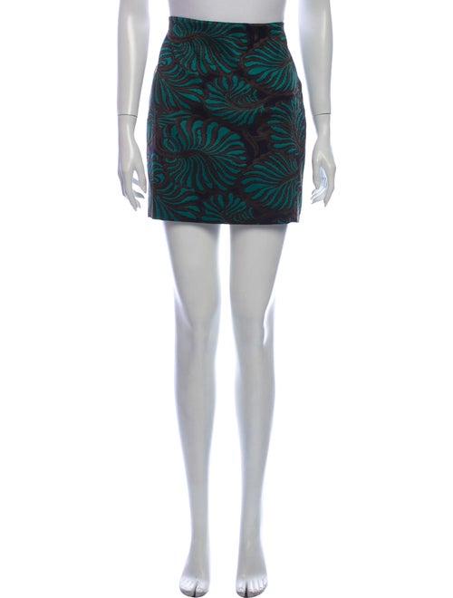 Piazza Sempione Printed Mini Skirt Blue