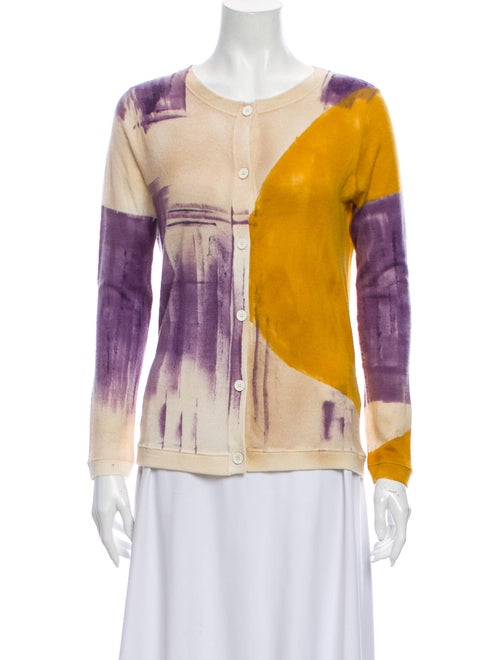 Piazza Sempione Cashmere Tie-Dye Print Sweater Ora