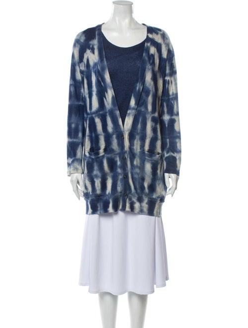 Piazza Sempione Cashmere Tie-Dye Print Sweater Blu