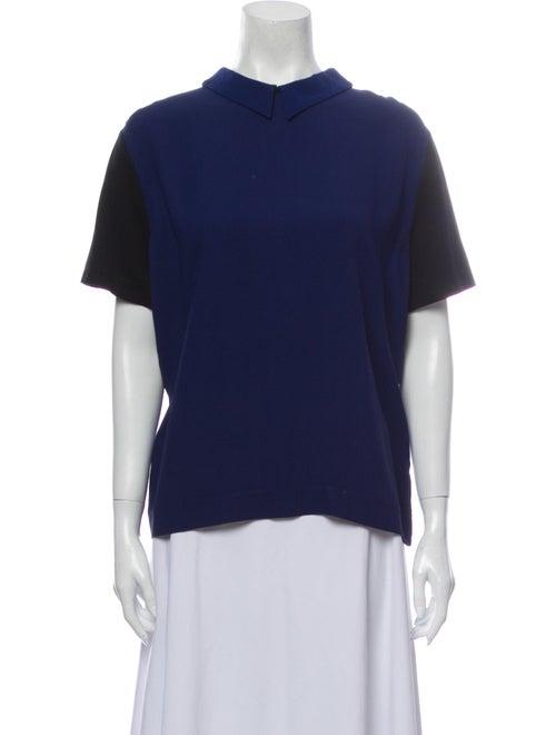 Piazza Sempione Mock Neck Short Sleeve Sweatshirt