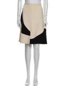 Piazza Sempione Colorblock Pattern Knee-Length Skirt