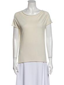 Piazza Sempione Bateau Neckline Short Sleeve T-Shirt