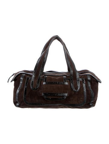Pierre Hardy Patent Leather & Suede Handle Bag