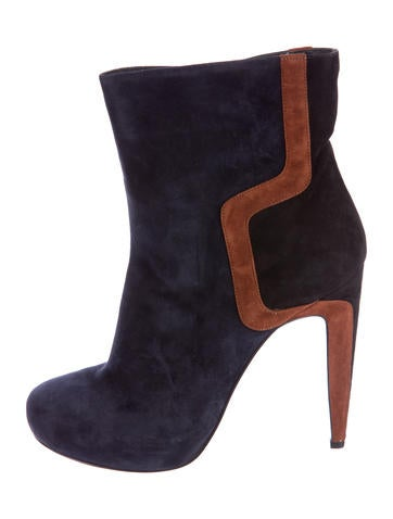 Pierre Hardy Round-Toe Suede Ankle Boots