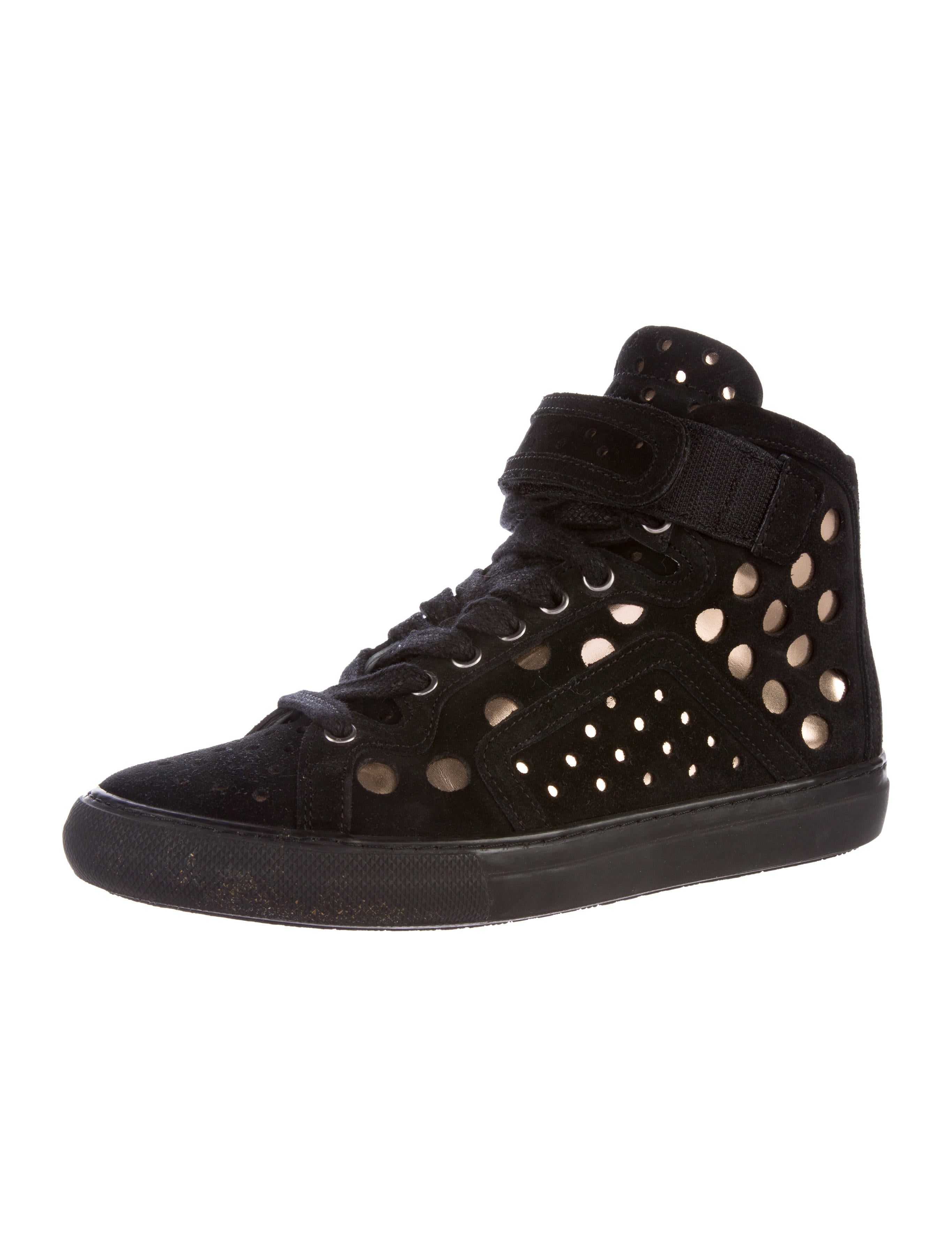 pierre hardy suede high top sneakers shoes pie23117 the realreal. Black Bedroom Furniture Sets. Home Design Ideas