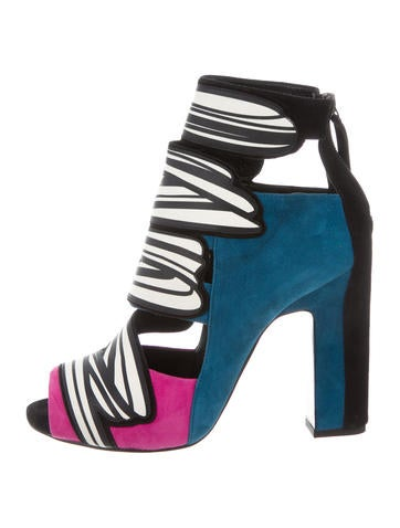 Splash Peep-Toe Booties w/ Tags
