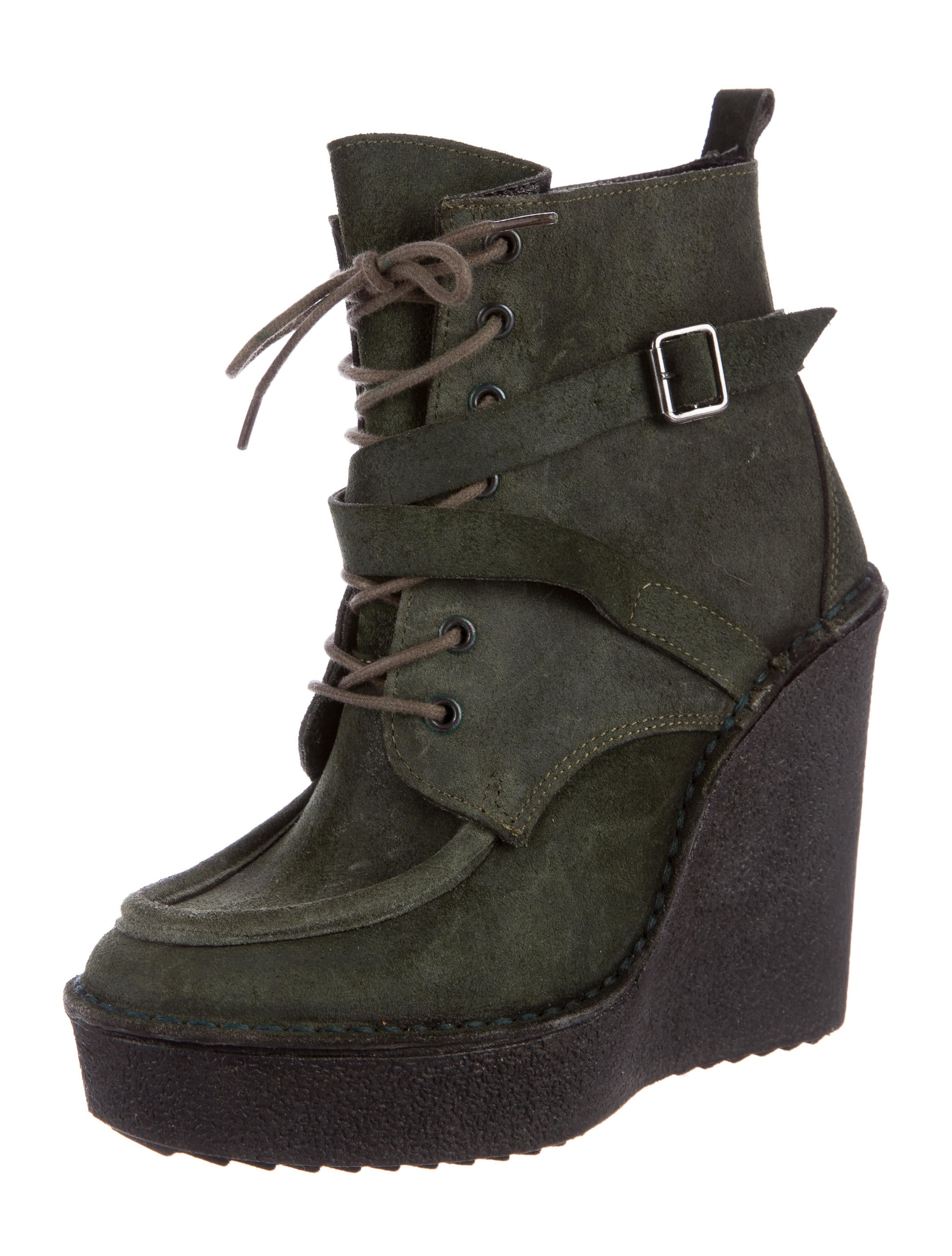 pierre hardy suede wedge ankle boots shoes pie23208 the realreal. Black Bedroom Furniture Sets. Home Design Ideas