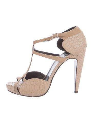 Pierre Hardy Python Platform Sandals None