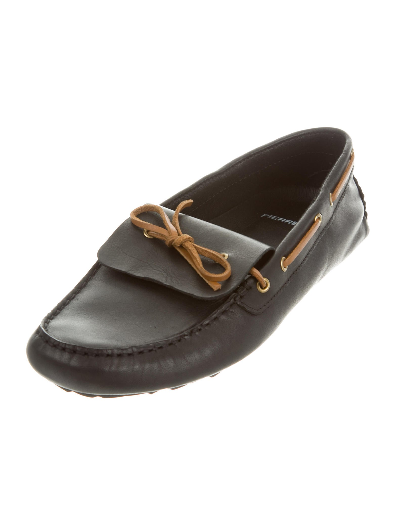 pierre hardy leather boat shoes shoes pie23404 the realreal. Black Bedroom Furniture Sets. Home Design Ideas