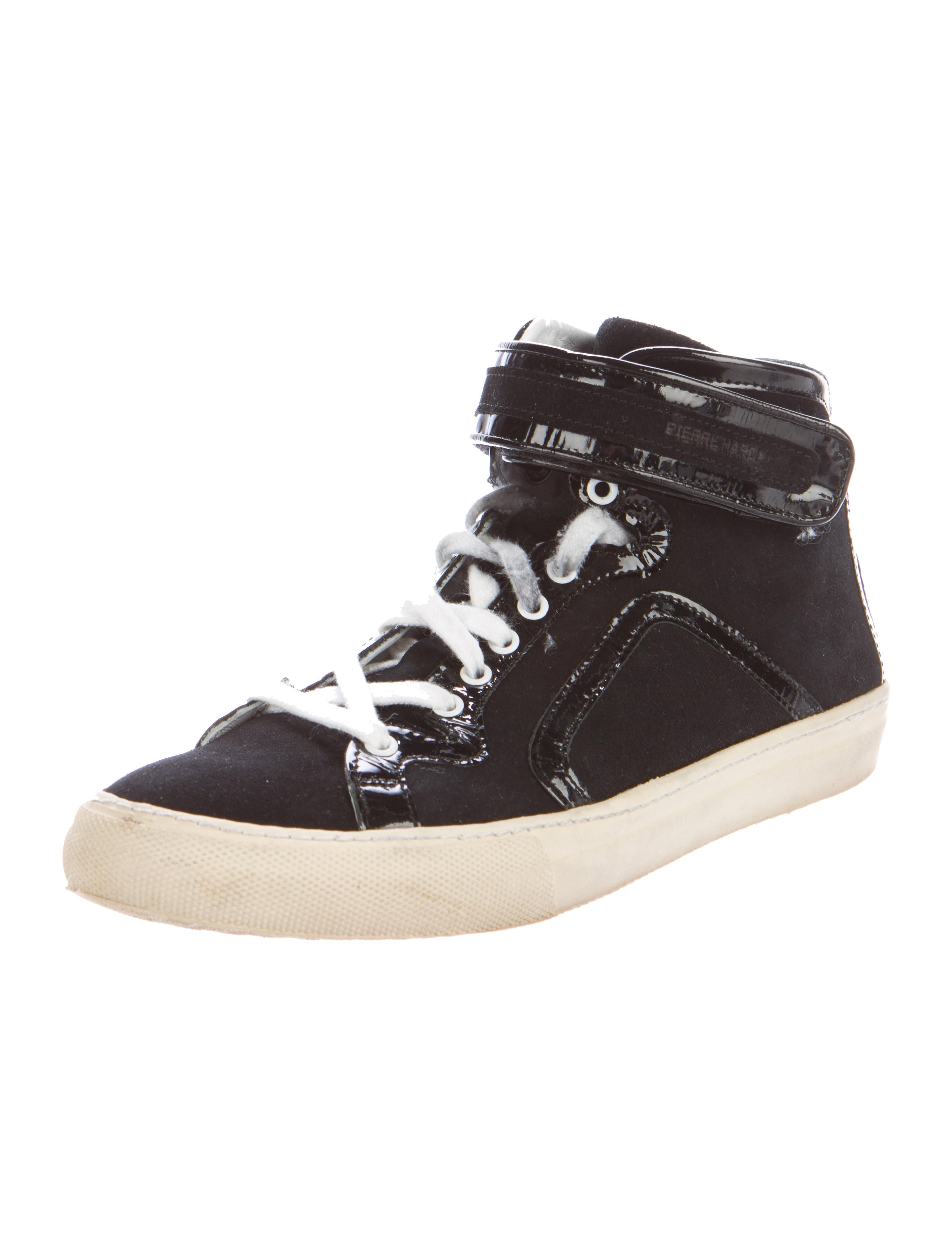 pierre hardy round toe high top sneakers shoes pie23448 the realreal. Black Bedroom Furniture Sets. Home Design Ideas
