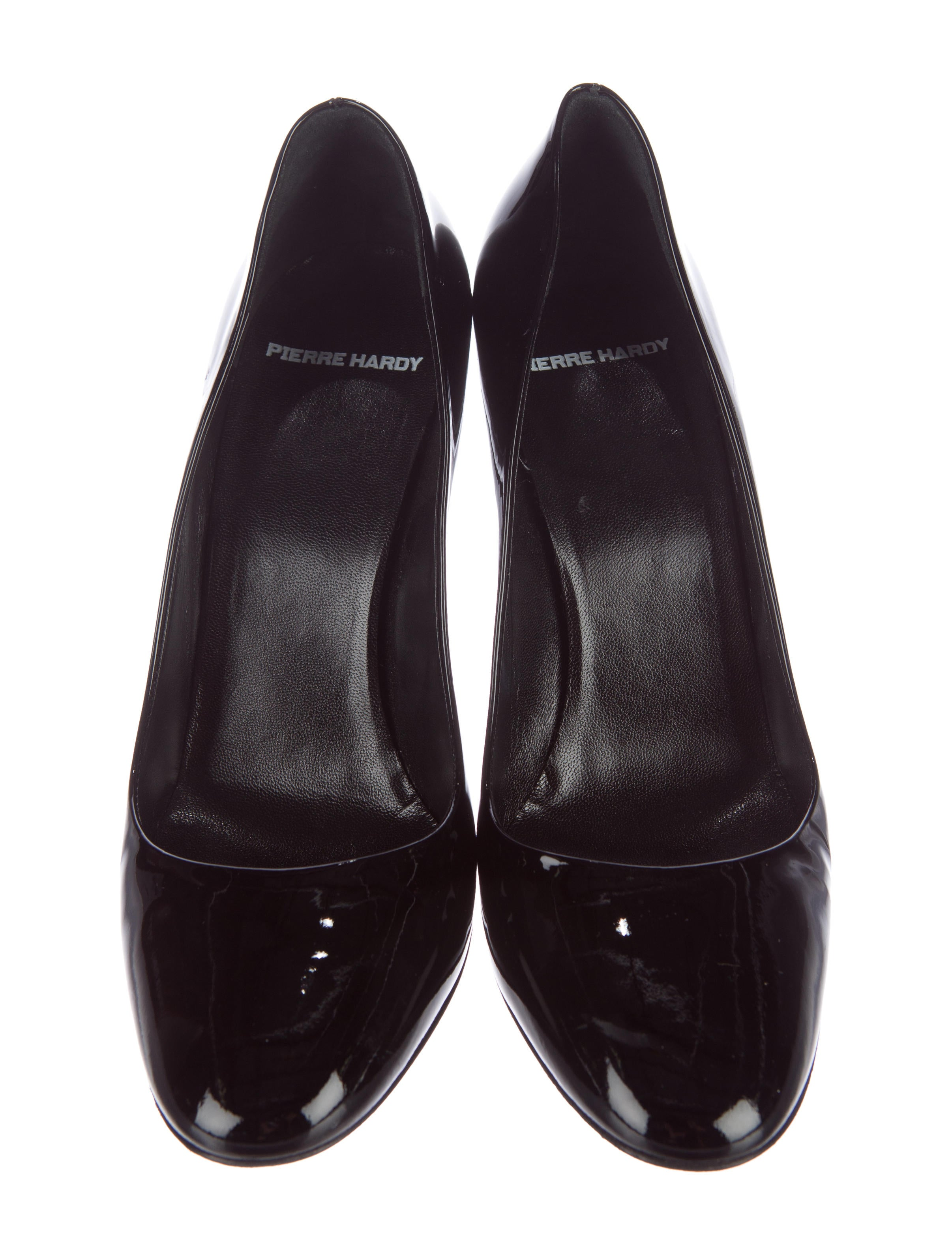 Pierre Hardy Patent Leather Round Toe Pumps Shoes  : PIE234643enlarged from www.therealreal.com size 2412 x 3181 jpeg 481kB