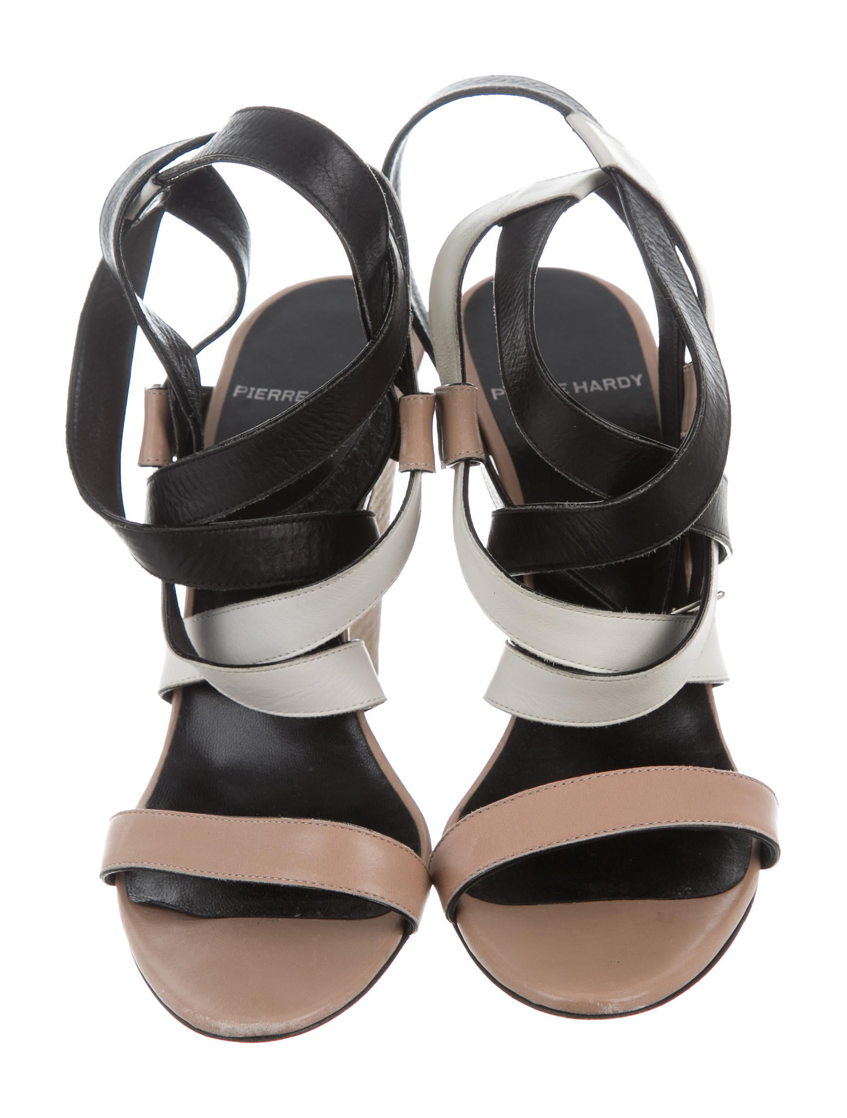 pierre hardy leather multistrap sandals shoes pie23469 the realreal. Black Bedroom Furniture Sets. Home Design Ideas