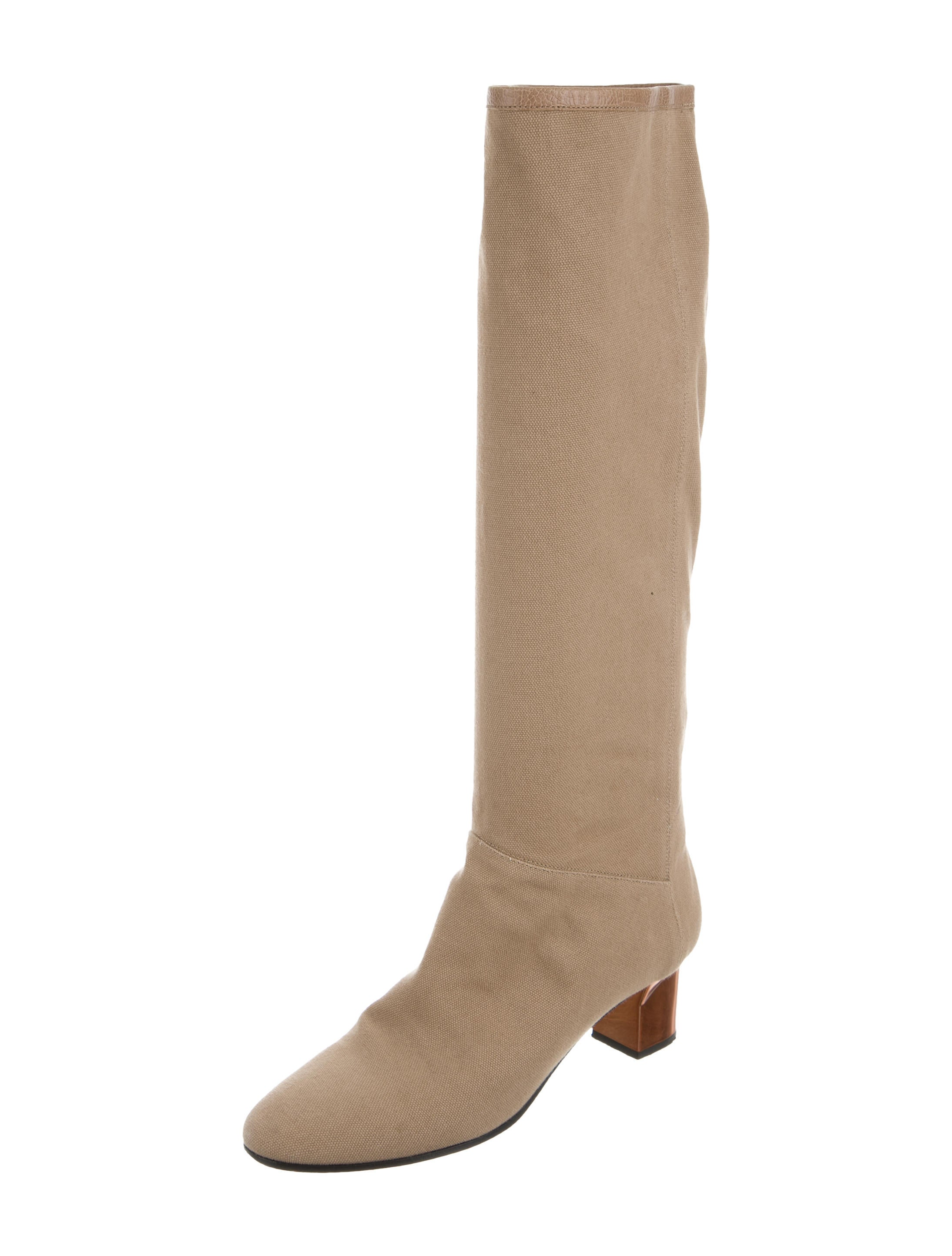 hardy canvas knee high boots shoes pie23471
