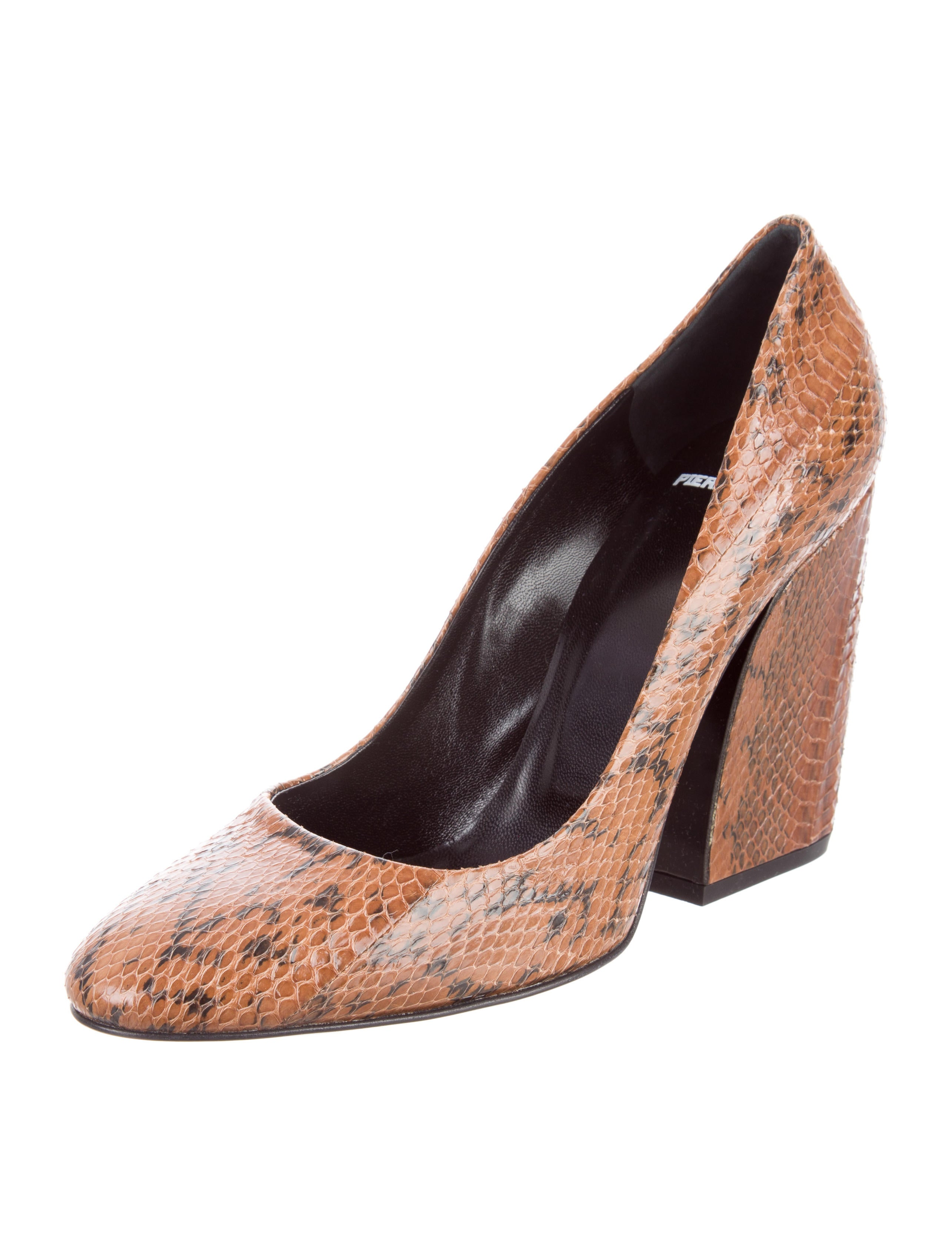 Pierre Hardy Round-Toe Python Pumps w/ Tags sale fast delivery cheap buy sale excellent wbFEp