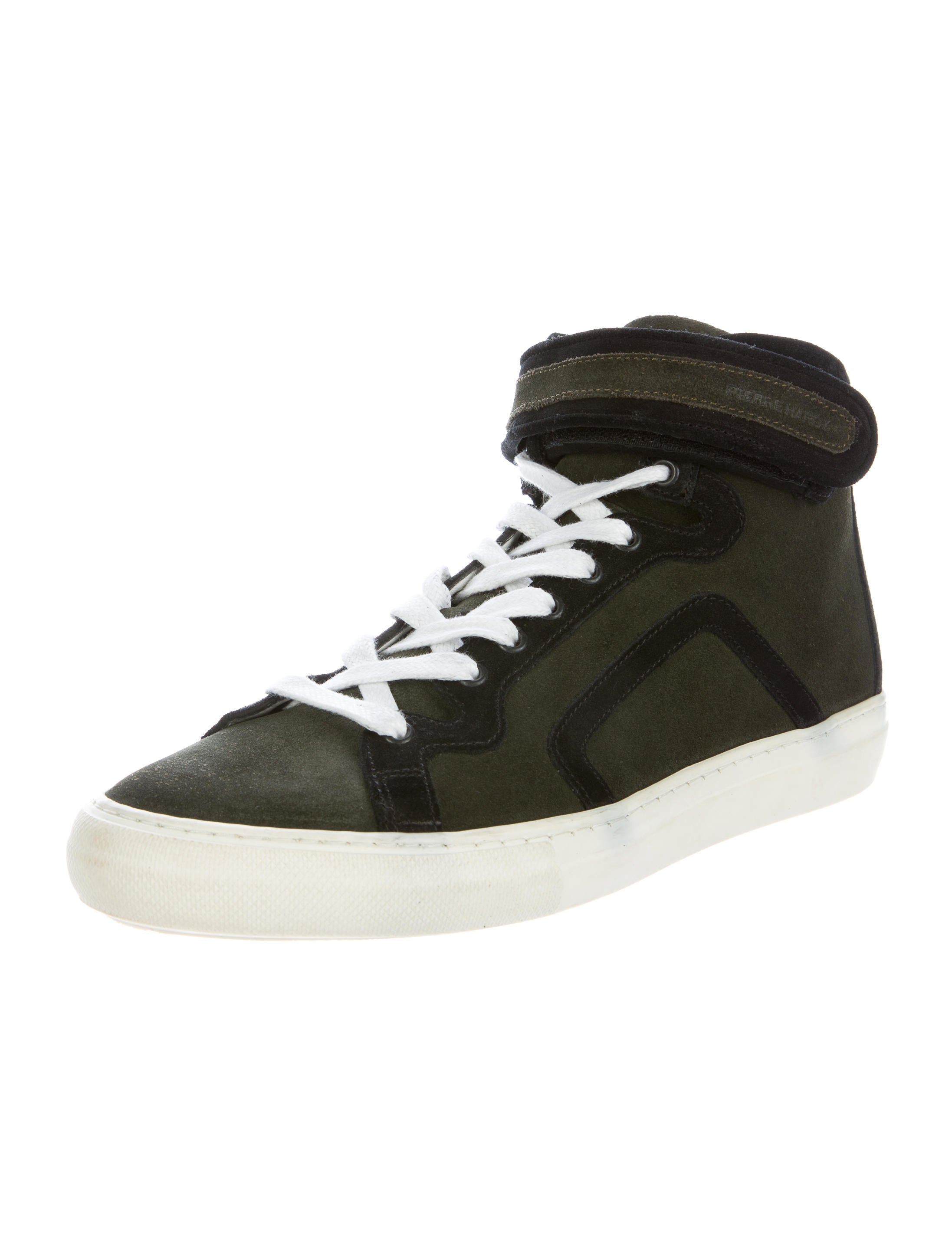 pierre hardy suede high top sneakers shoes pie23862 the realreal. Black Bedroom Furniture Sets. Home Design Ideas