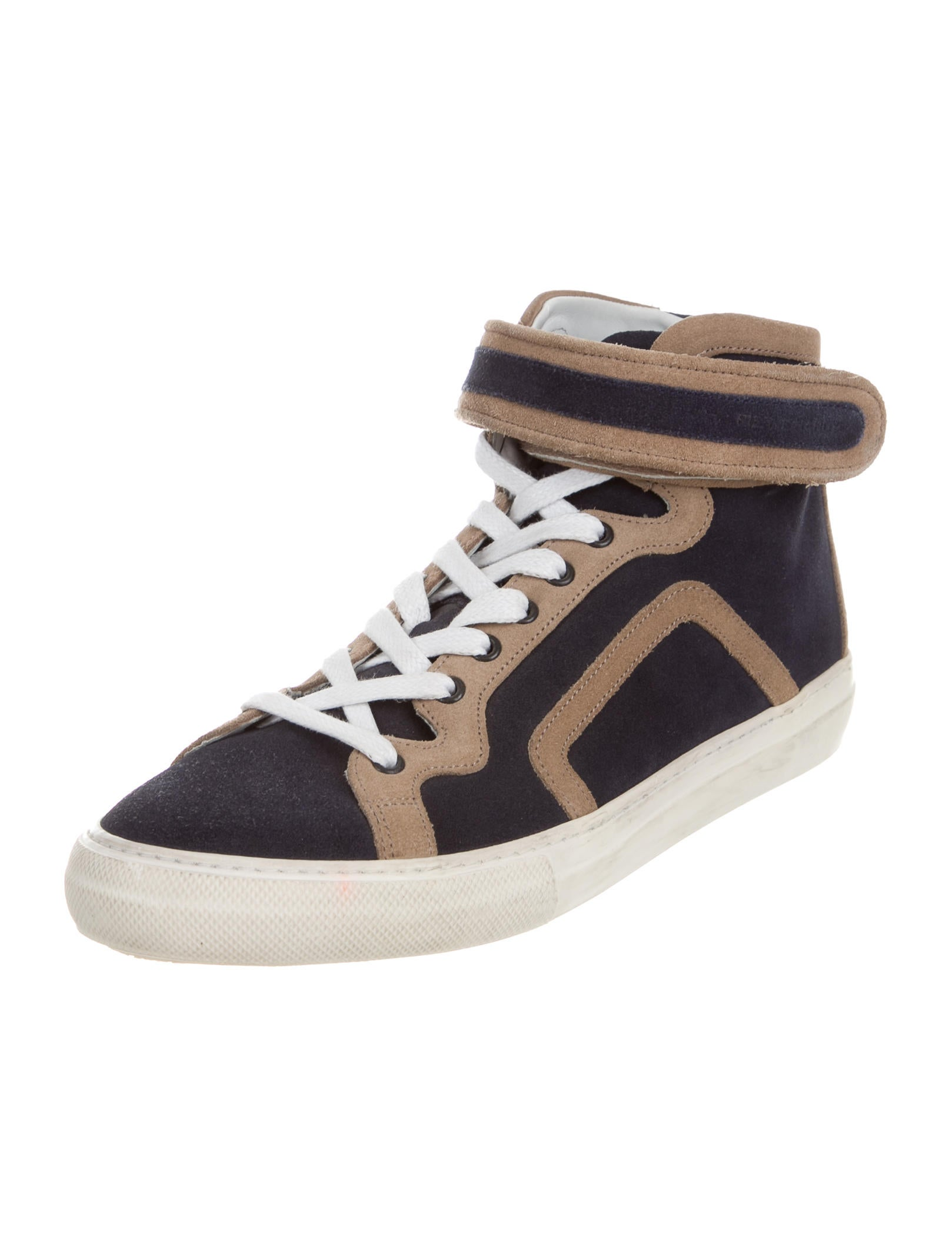 pierre hardy suede colorblock sneakers shoes pie23893 the realreal. Black Bedroom Furniture Sets. Home Design Ideas