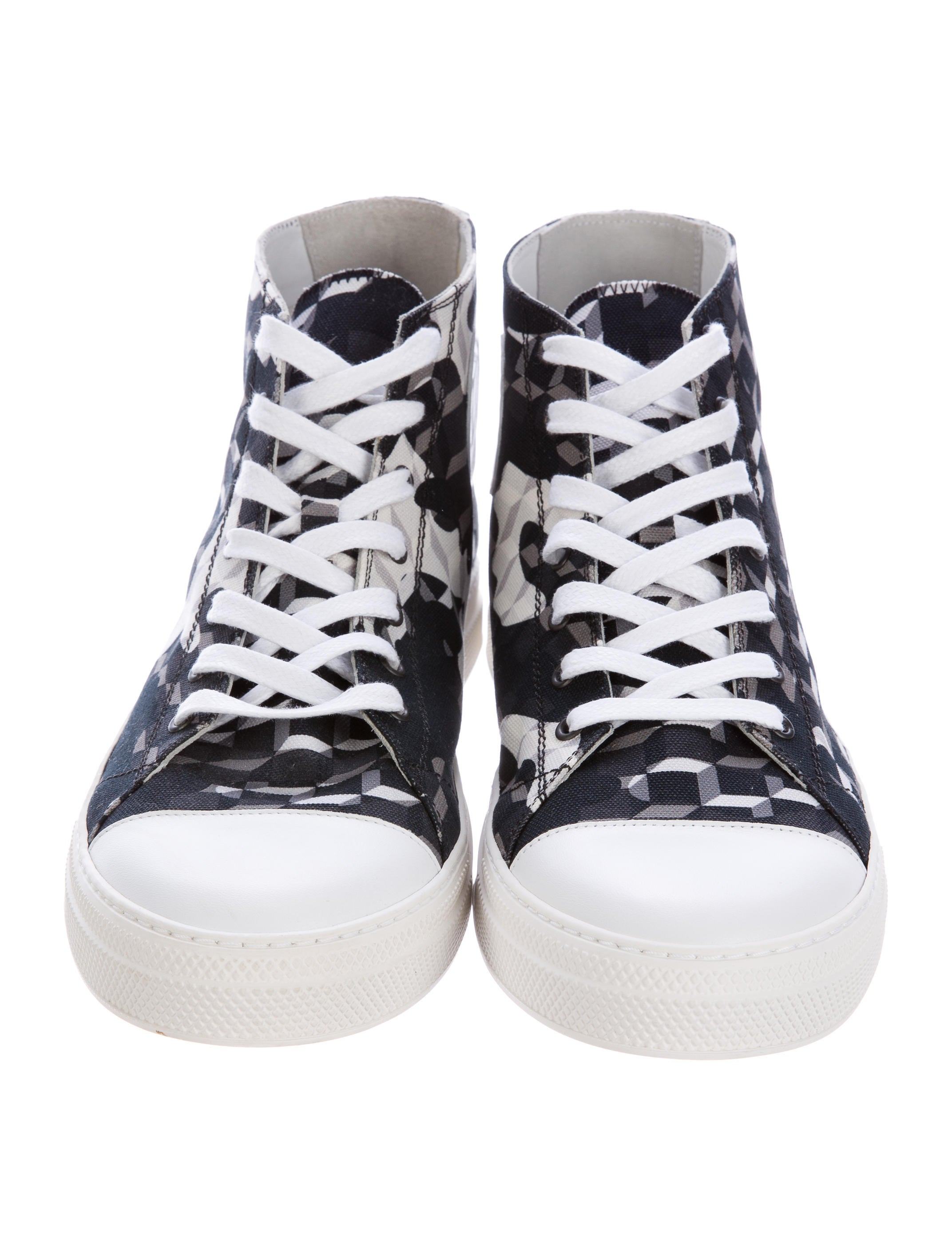 pierre hardy 3 d print high top sneakers w tags shoes pie23900 the realreal. Black Bedroom Furniture Sets. Home Design Ideas