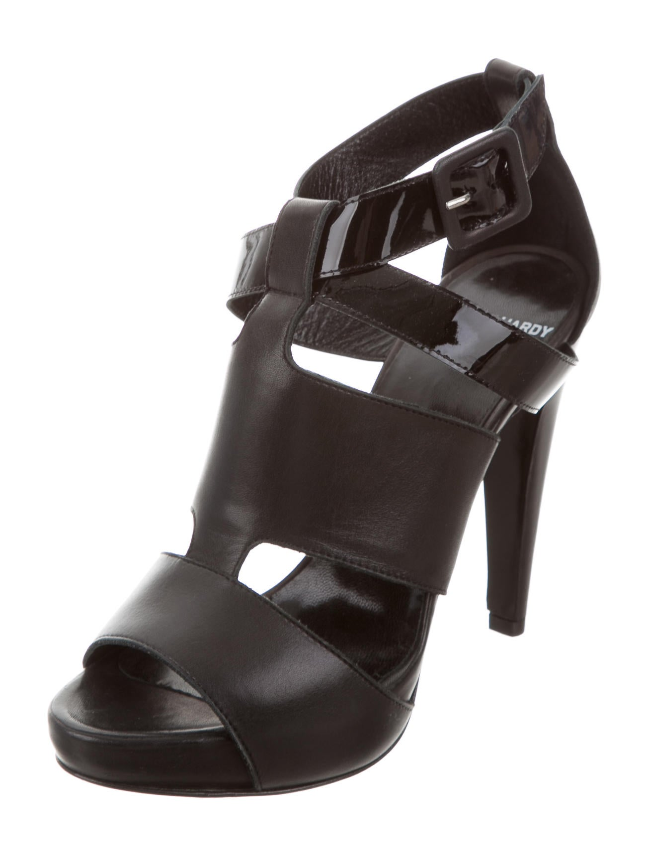 pierre hardy leather multistrap sandals shoes pie23938 the realreal. Black Bedroom Furniture Sets. Home Design Ideas