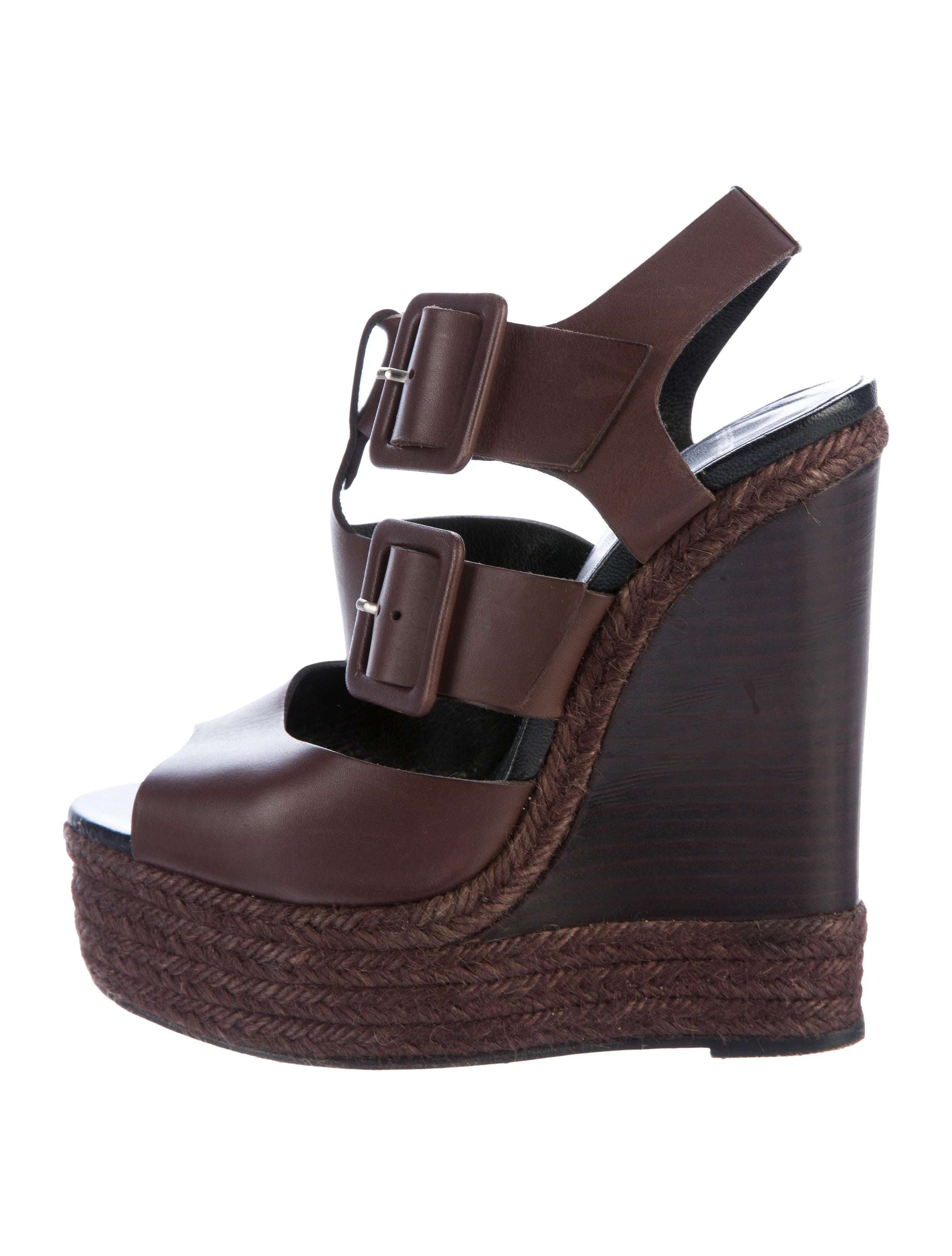 pierre hardy leather wedge sandals shoes pie24062 the realreal. Black Bedroom Furniture Sets. Home Design Ideas