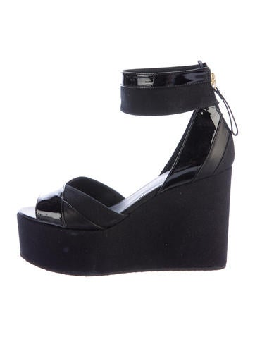 Pierre Hardy Canvas Wedge Sandals None