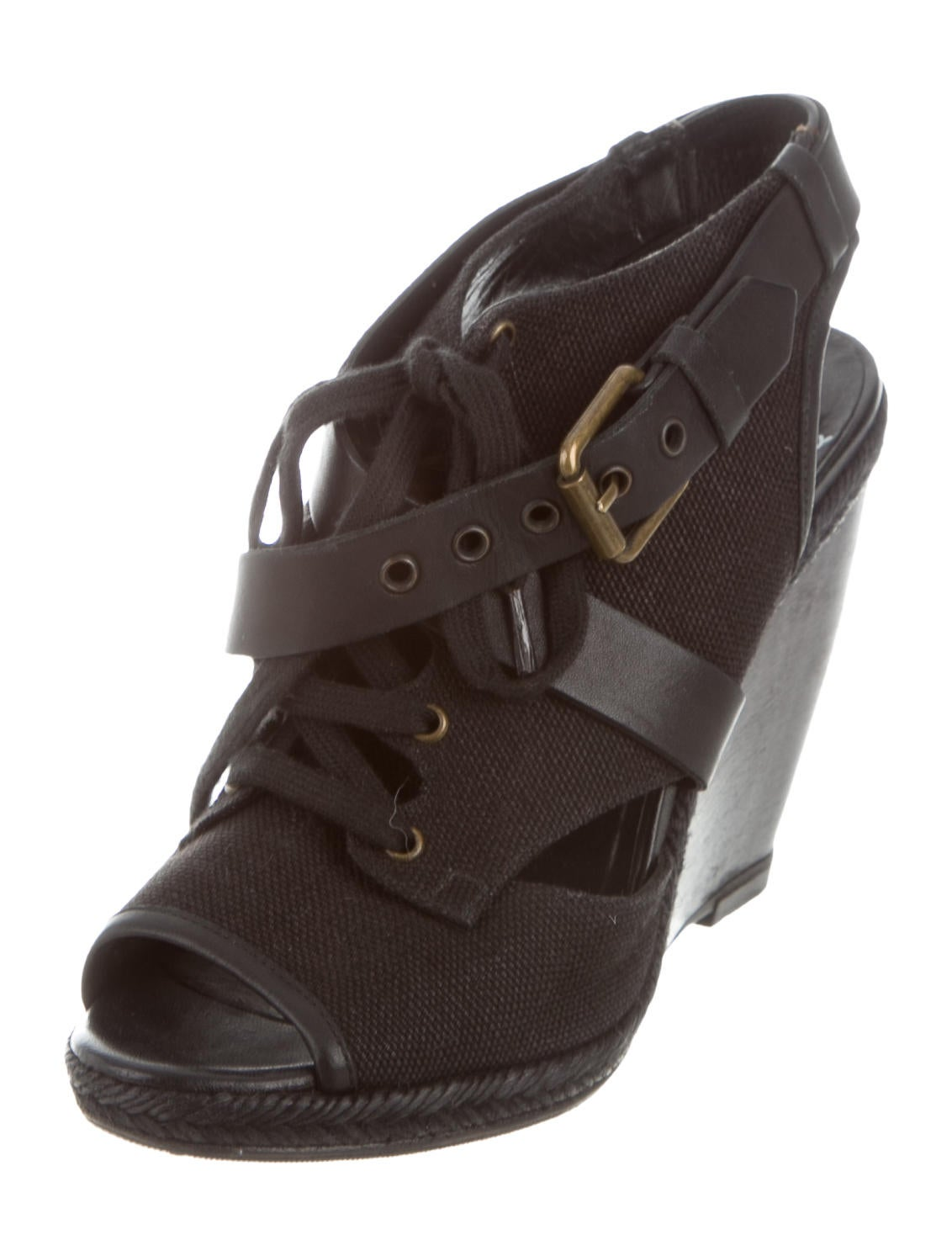 pierre hardy lace up wedge sandals shoes pie24178 the realreal. Black Bedroom Furniture Sets. Home Design Ideas